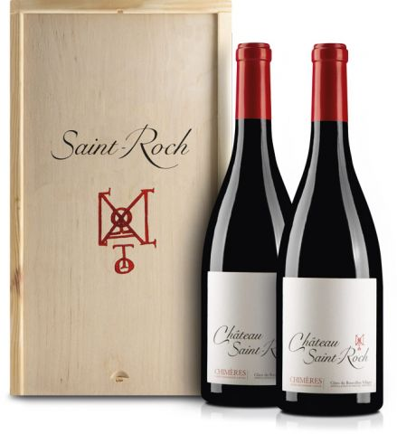 Chateau Saint Roch Chimeres 2er Holzkiste
